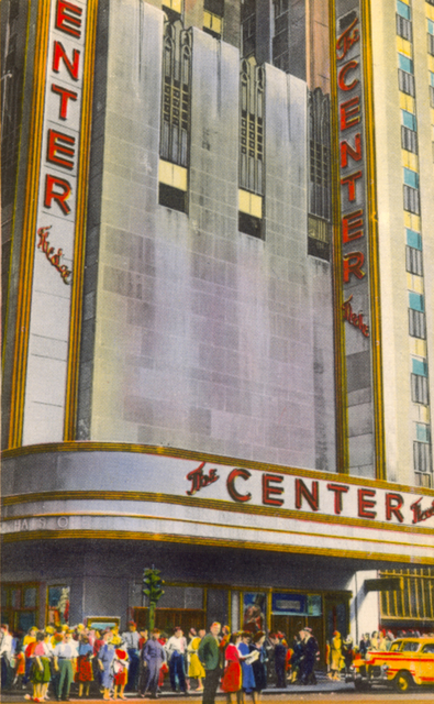 Postcard of the Center Theatre.