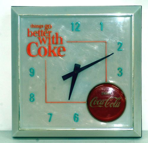 Things go better with Coke clock.