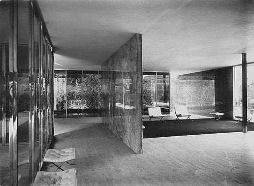Interior of the 1929 German Pavilion.