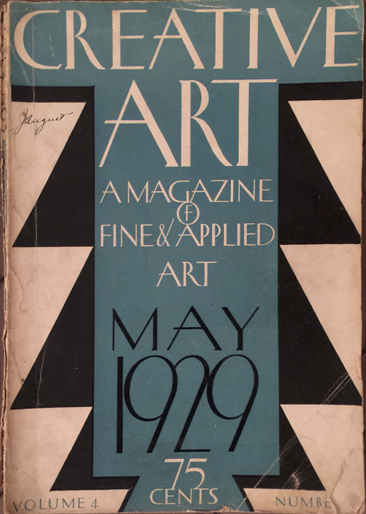 May, 1929 Creative Art magazine.