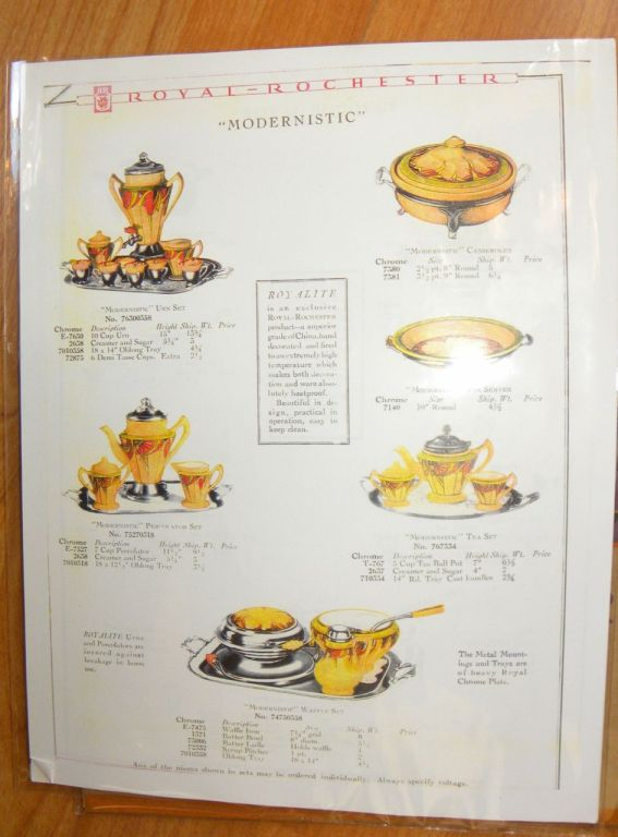 Modernistic in the 1928 Royal Rochester brochure
