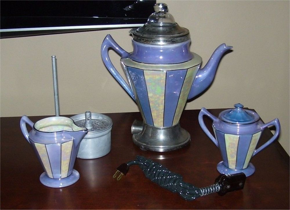 Lila stripe Royal Rochester coffee service.