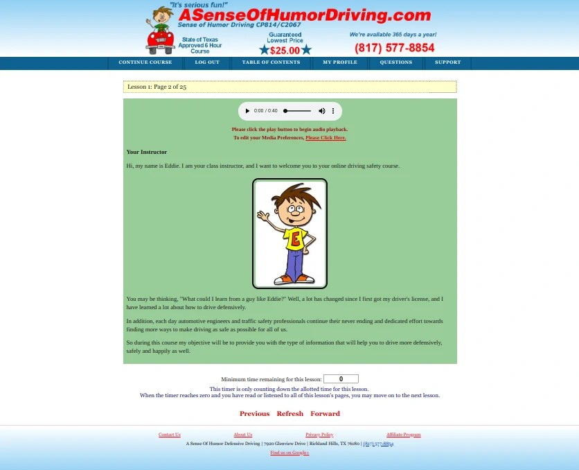 ASenseOfHumorDriving.com Previous Site
