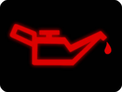 Engine oil warning light