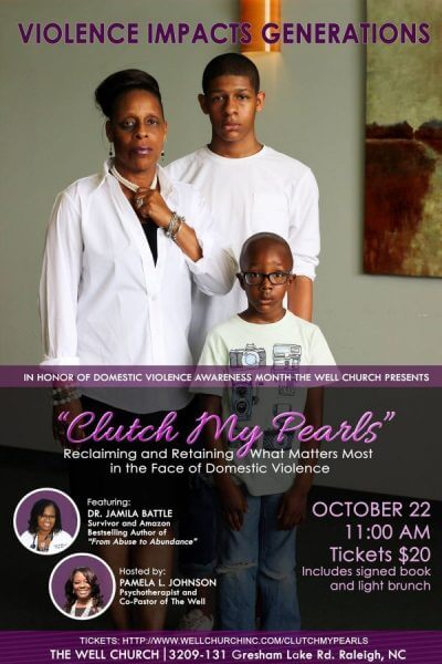 Clutch My Pearls Domestic Violence Awareness