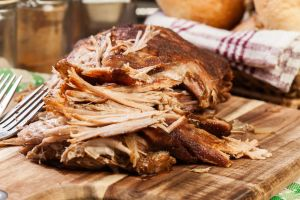 Slow cooked pulled pork shoulder