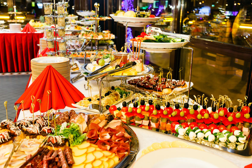 wedding catering buffet style