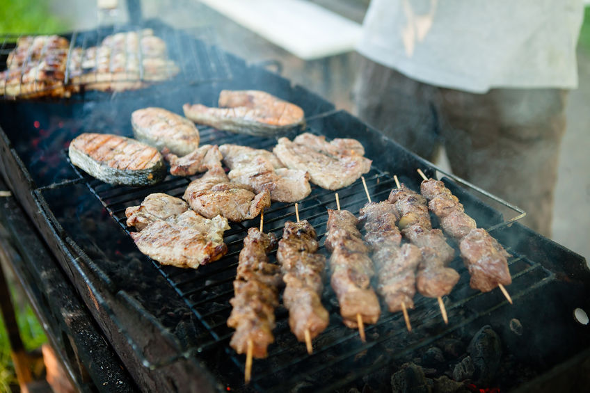 Grilled Mixed Meat on BBQ Flaming Grill. You can see more in my public set.