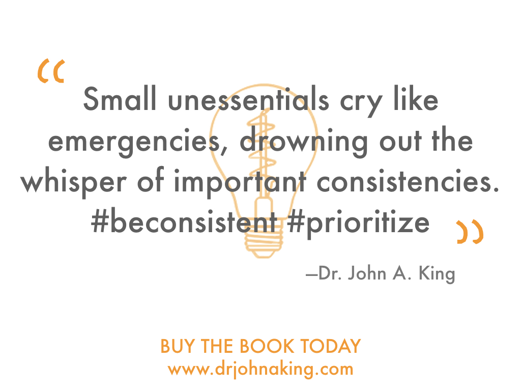 #drjohnaking #priorities