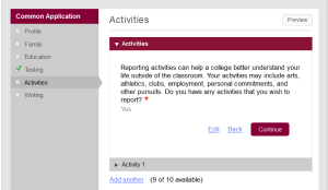 Common app activity1