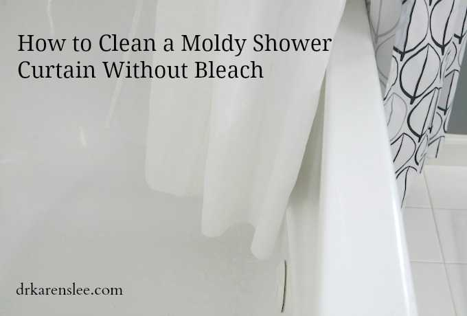 moldy shower curtain without bleach