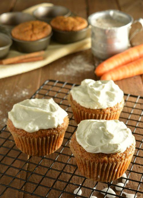 Carrot Banana Cupcakes
