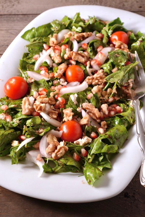 Arugula Walnut Feta Salad