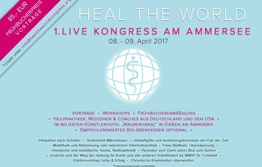 Dr. C. empfiehlt: Heal the world Congress