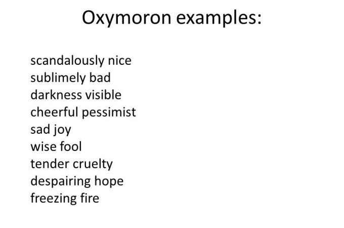What is an Oxymoron? Definition, Examples of Oxymoron in Literature