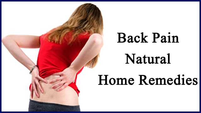 Home Remedies for Back Pain Treatment