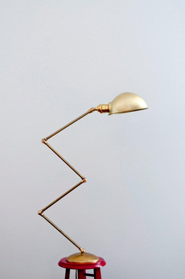 Diy lámpara de latón