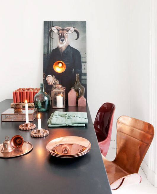 Cómo decorar con cobre