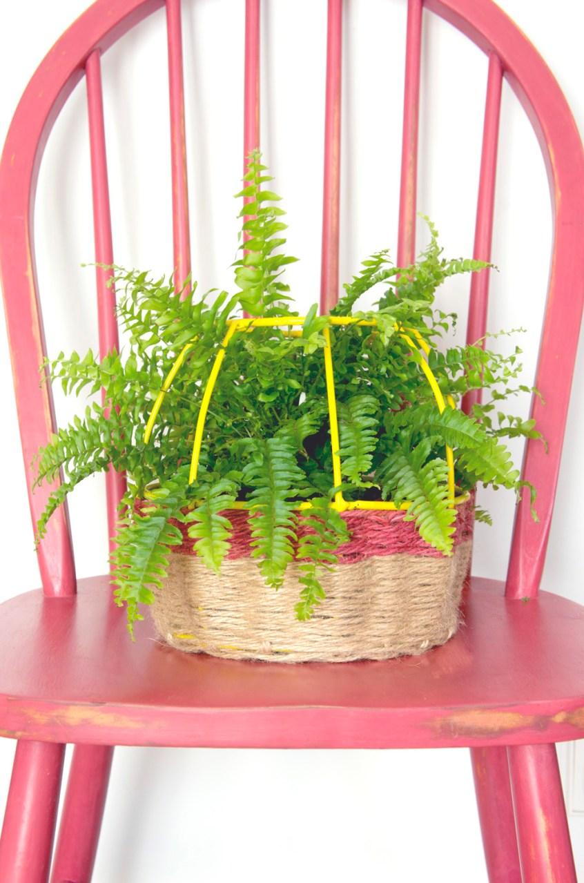 Convierte una l mpara en una cesta decoraci n diy for Adornos casa online