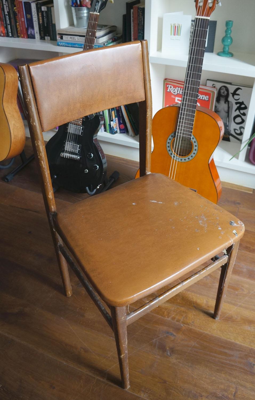 Una silla reciclada. Antes y después