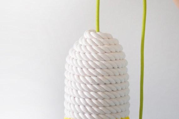 Diy lámpara de cuerda