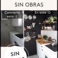 Cómo renovar tu cocina sin obras. Fotos del antes y después de mi pequeña cocina