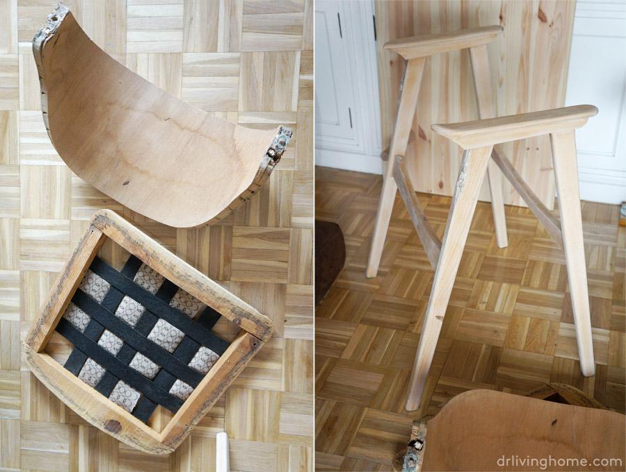 C mo tapizar una silla en piel antes y despu s - Como tapizar una silla con respaldo ...