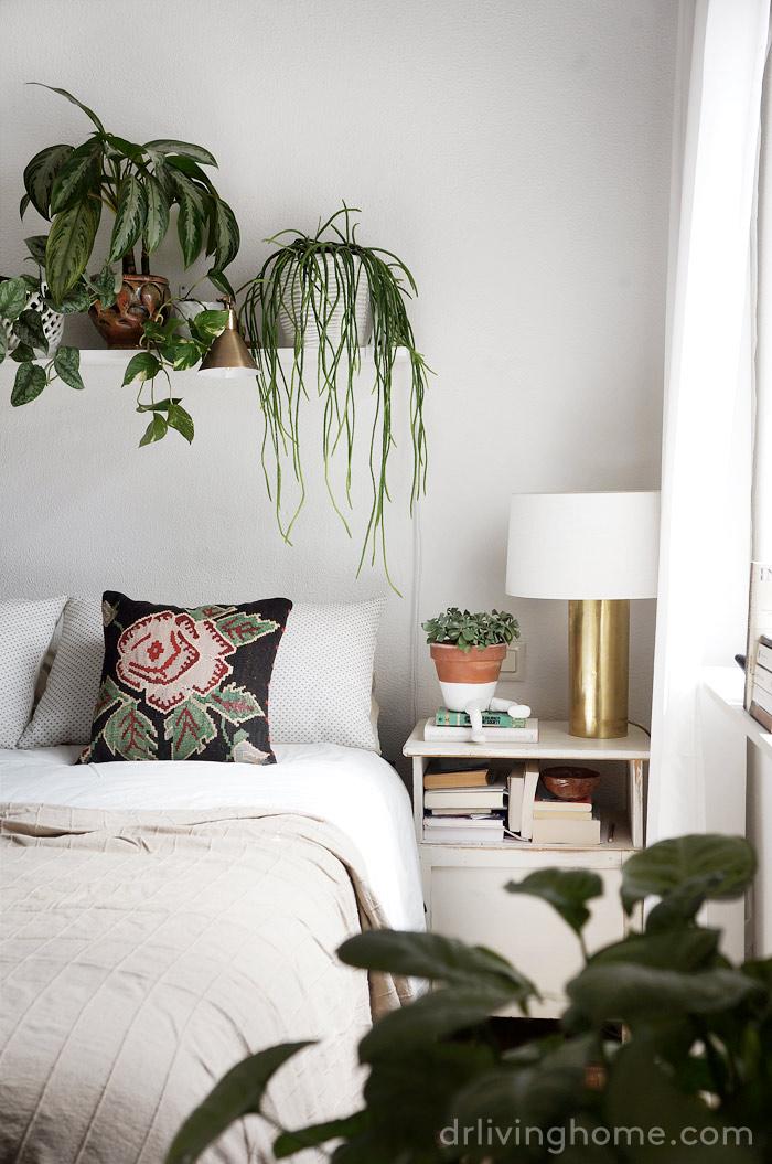 Decorar un dormitorio con plantas