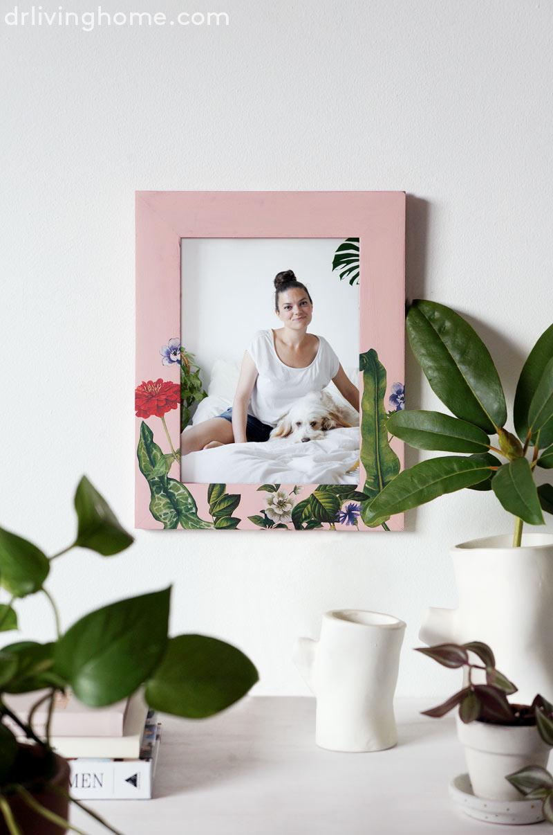 Diy marco de fotos decorado con decoupage decoraci n - Blog de decoracion de casas ...