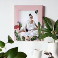 Diy marco de fotos decorado con decoupage