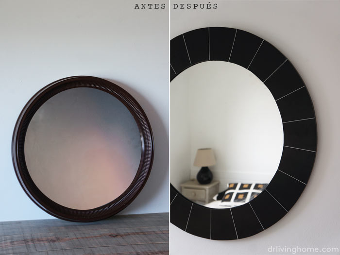 Cómo transformar un espejo redondo