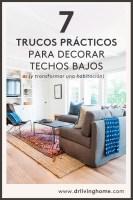 7 trucos prácticos para decorar techos bajos
