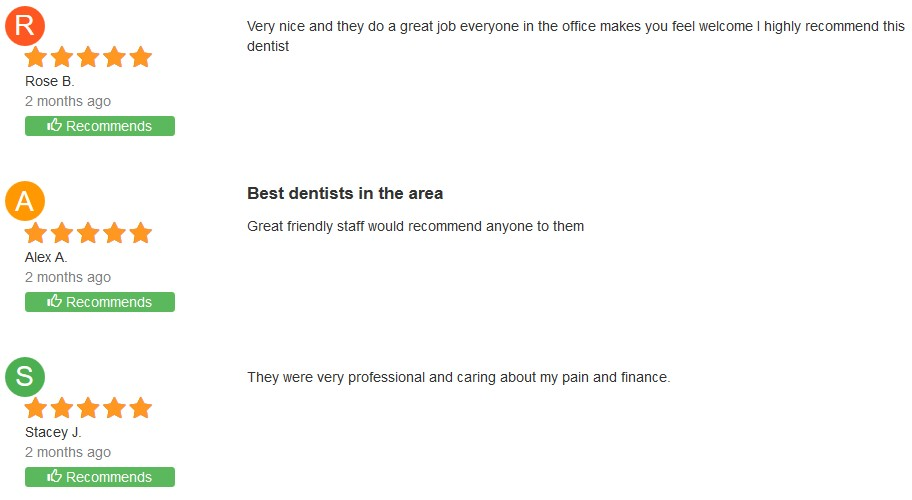 dental office review of dr louie in stockton