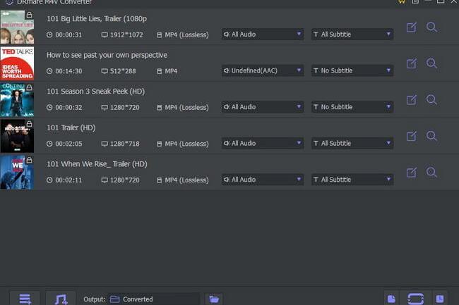 DRmare M4V converter Add Files
