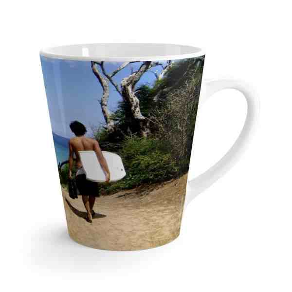 Paradise Is Just a Thought Away -Latte mug 4