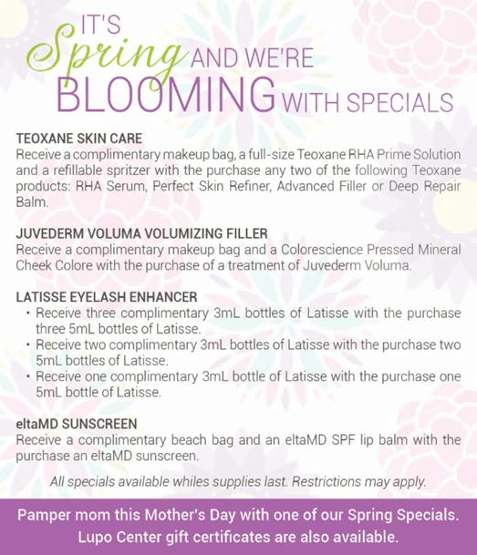 Dermatology Promotions New Orleans - Spring Specials 2015