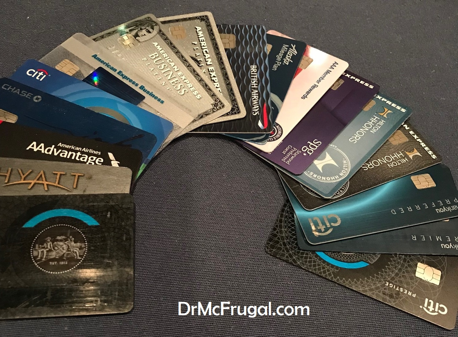 A peek at my diversified portfolio of credit cards dr mcfrugal reheart Images