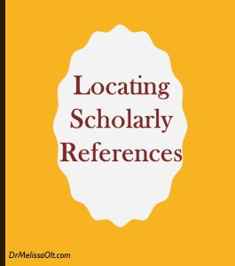 Locating Scholarly References