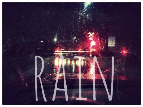 A rainy morning drive