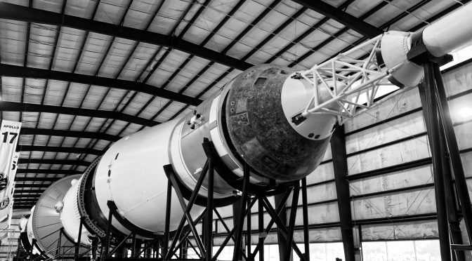A real Saturn rocket, the largest rocket ever built.