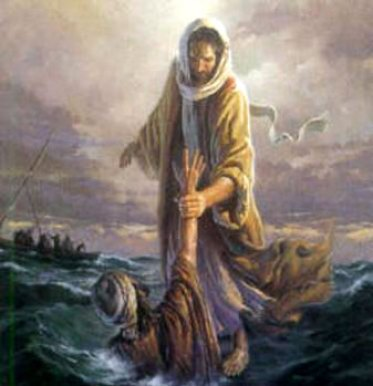 Jesus saves from drowning