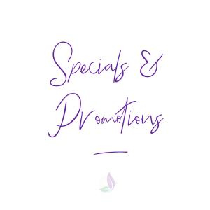 specials, sales, discounts, promotions