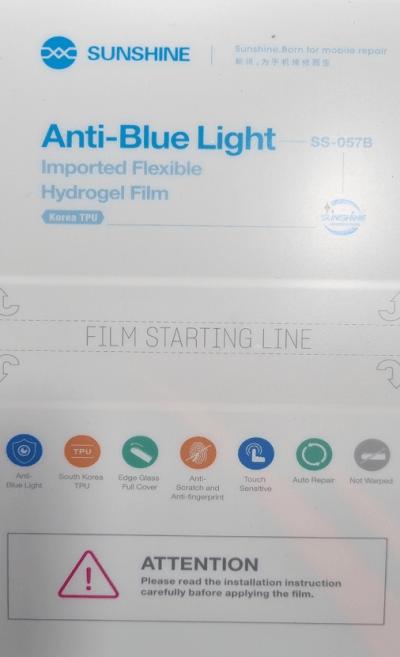 Pelicula hidrogel Anti-Blue Light importada SS-057B