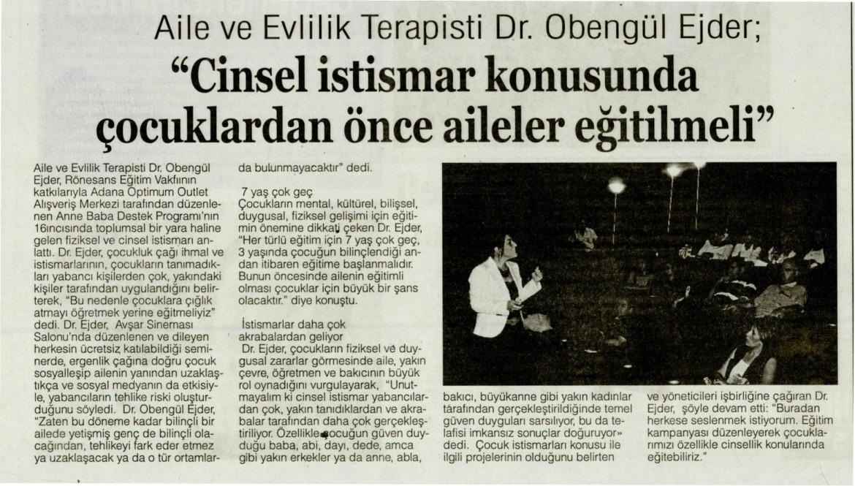 AİLE VE EVLİLİK TERAPİSTİ DR. OBENGÜL EJDER