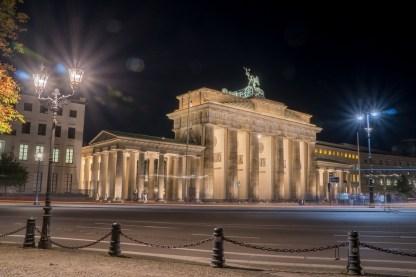 Berlin, Brandenburger Tor bei Nacht