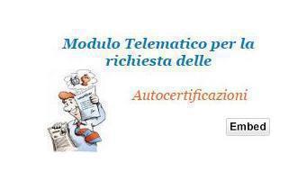 Certificati Online Modelli Autocertificazione In Pdf