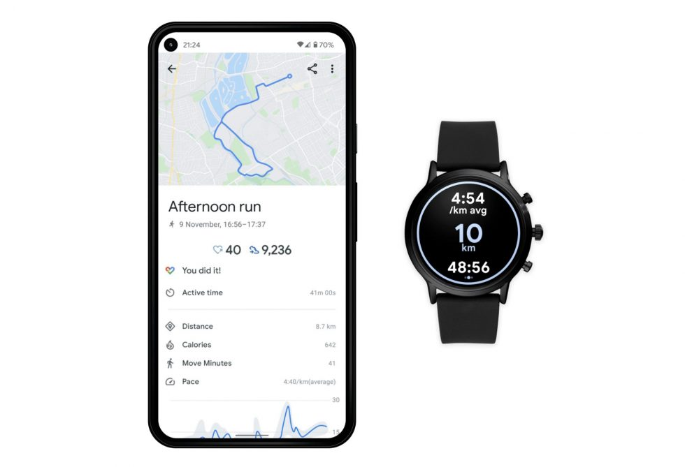 New Google Fit Wear OS