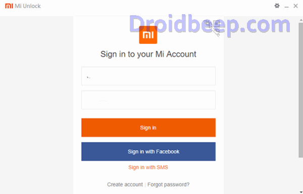 sign mi account