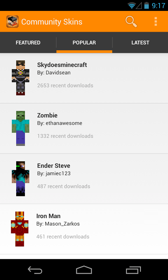 Create Upload And Share Your Skins Or Use Others With Minecraft - Minecraft skins fur android