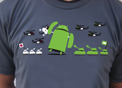 Artist Chris Bishop releases Android T-Shirt, calls it Android: Winning!
